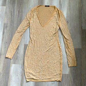 Banjul sheer sparkle sequin dress size large